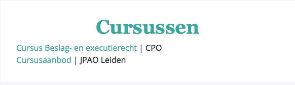 Cursussen example