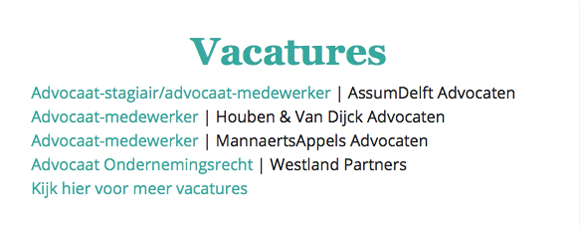 Vacatures example